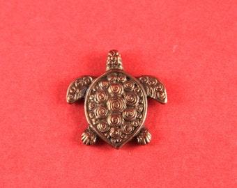 8A/1 MADE IN GREECE Mykonos copper turtle pendant, mykonos turtle charm (X5611AC)Qty1