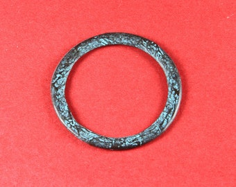 1/9 MADE in EUROPE mykonos green patina large ring, textured large ring, hammered green patina ring (X5034ACG) qty1