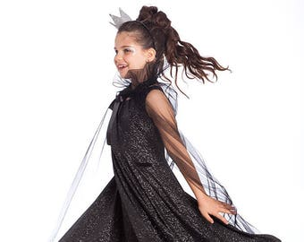 Halloween Costumes Night Queen Costume Black Princess Kids Costumes Girls Halloween Costume Black Queen costume Girls Toddler Costume.  sc 1 st  Etsy : black princess costume  - Germanpascual.Com