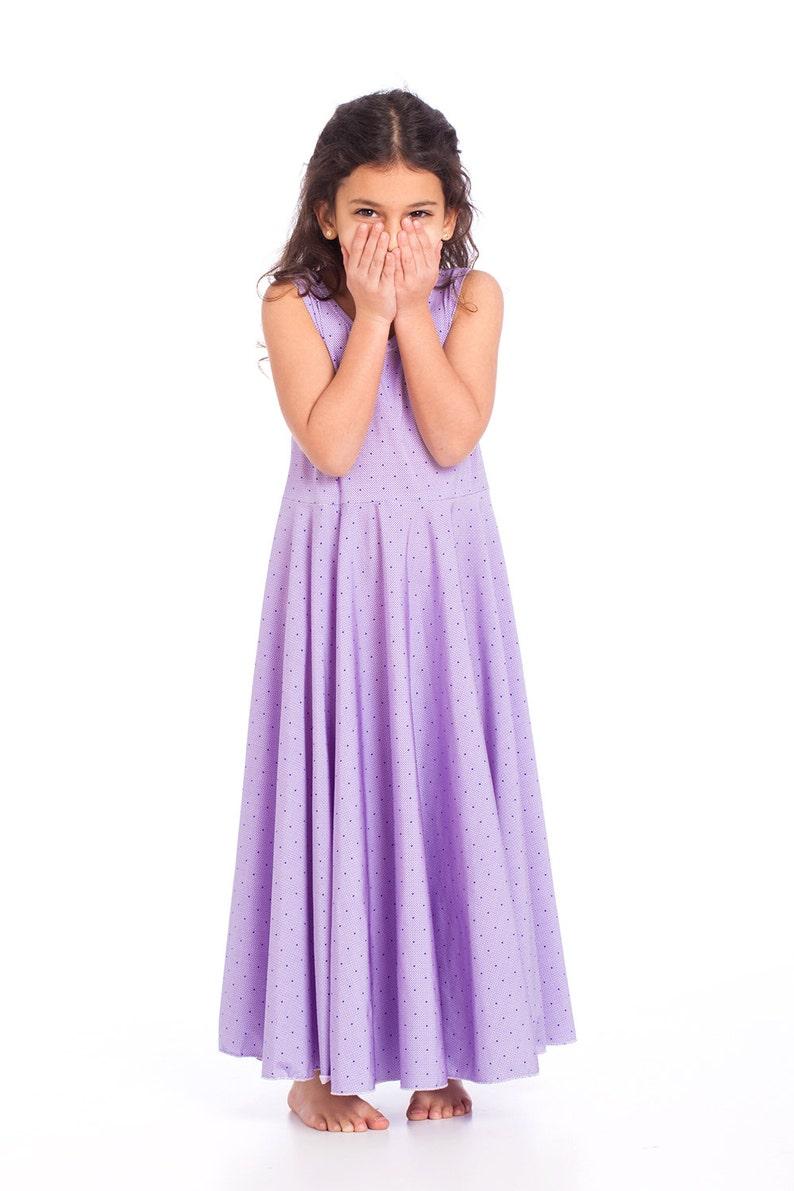34059e385 Girls Purple Colored Twirling Dress Girls  Dresses