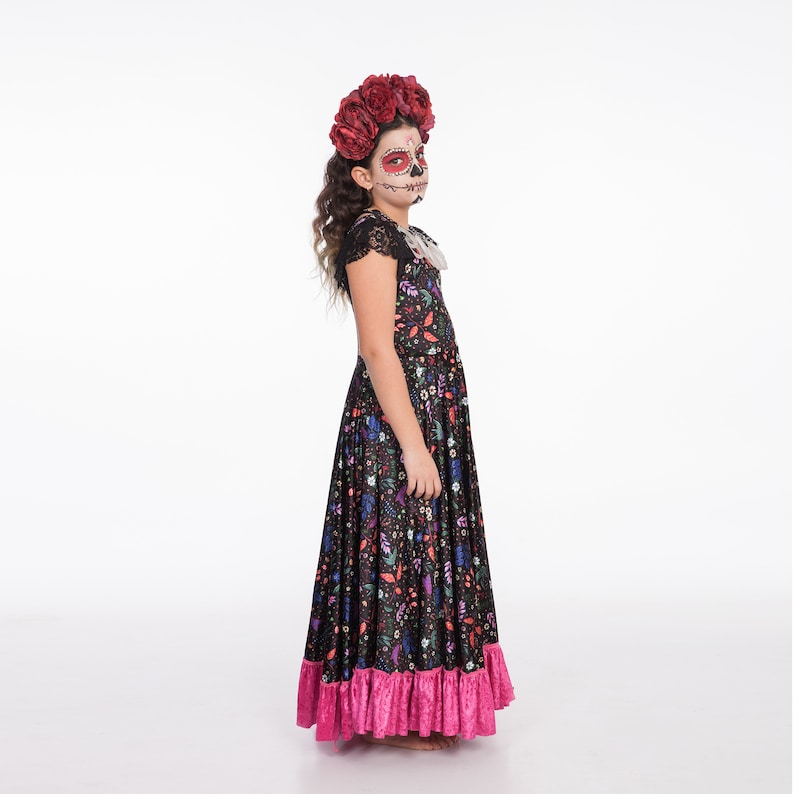 Kids Halloween Costume Children costume Mexican Dress Day Of The Dead Girls Costume Girls Halloween Costume Frida Kahlo Outfit
