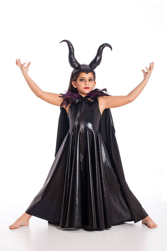 Girls Maleficent Costume Halloween Costumes Kids Costumes | Etsy