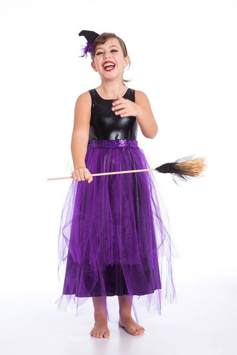 Strega Costume Costume da strega nera e viola costumi di  5aa0e846a3fb