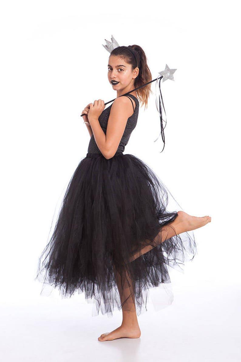 78fac4fe5 Tutu Costume Halloween Costumes Black Tutu Skirt Girls