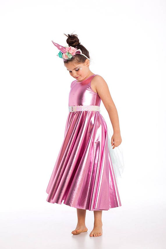 Disfraces de Halloween niñas vestido brillante unicornio