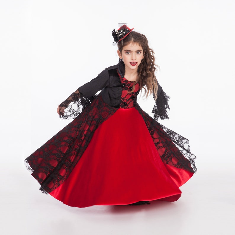 d63e5a3901 Vampire Costume Girls Costume Girls Toddler Halloween