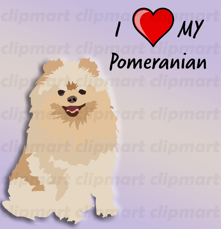 Pomeranian Art Unique Clip Artsticker Handmade Dog Art High Resolution Dog Breed Clip Art Dog Illustration Pets Cats Animals Bark
