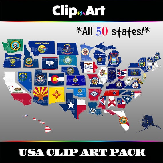 USA Map Clip Art Pack - 50 State Flags, California, Texas, Washington,  States Flags Pictures on all 50 flags, gallery of sovereign-state flags, midwest state flags, world map with flags, all us flags, official state flags, south west region state flags, all state flags, violent lips flags, american state flags, german state flags, southern state flags, australian state flags, country flags, caribbean flags, us state flags, individual state flags, france state flags, color of state flags,