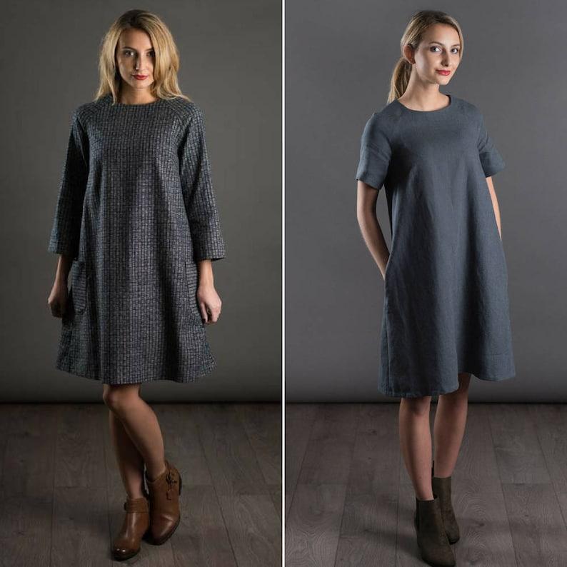 THE AVID SEAMSTRESS  The Raglan Adult Dress   Digital sewing image 0