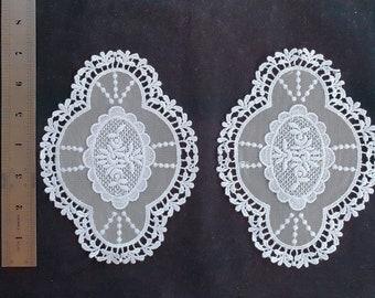 Vintage Antique look Lace Medallion Applique Off-White Doily Patchwork, Quilting, Home Decor, Clothes, bridal shower