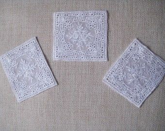 Set of 3 x Venice lace Motif