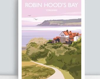 The Yorkshire Coast Robin Hoods Bay  Railway Poster