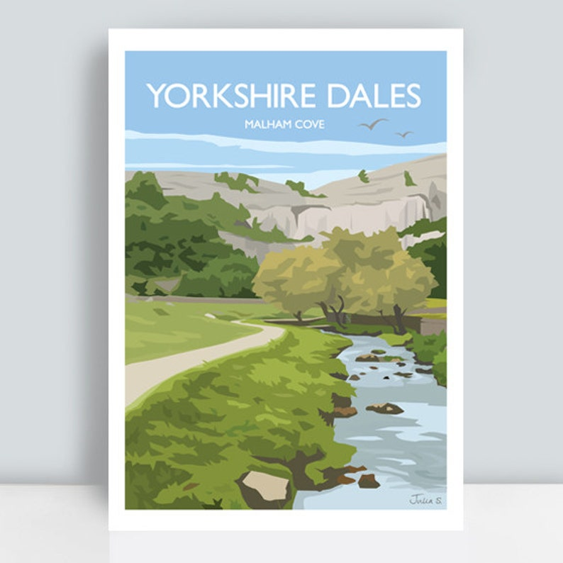 Yorkshire Dales print featuring Malham Cove North Yorkshire image 0