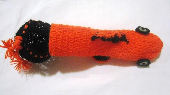 Poisson Nemo sous-vêtements tricoté à la main, pénis cache-coq chaussette vibrateur confortable willie cache-accessoire pour homme au crochet tenue de sous-vêtements à la main