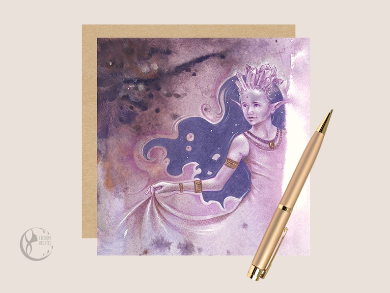 Greeting Card with Amethyst Fairy  image 0