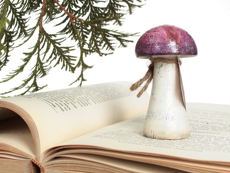 Fairy Decoration Sparkling Pink Mushroom image 0