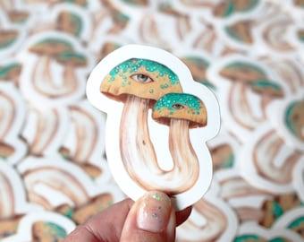Decorative Mystic Mushroom Sticker