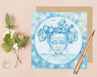 Blue Fairy Greeting Card