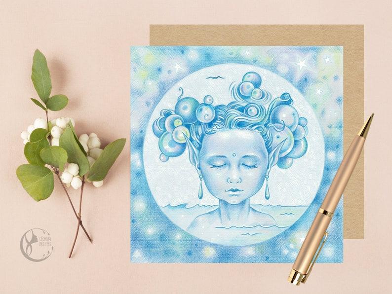 Blue Fairy Greeting Card image 0