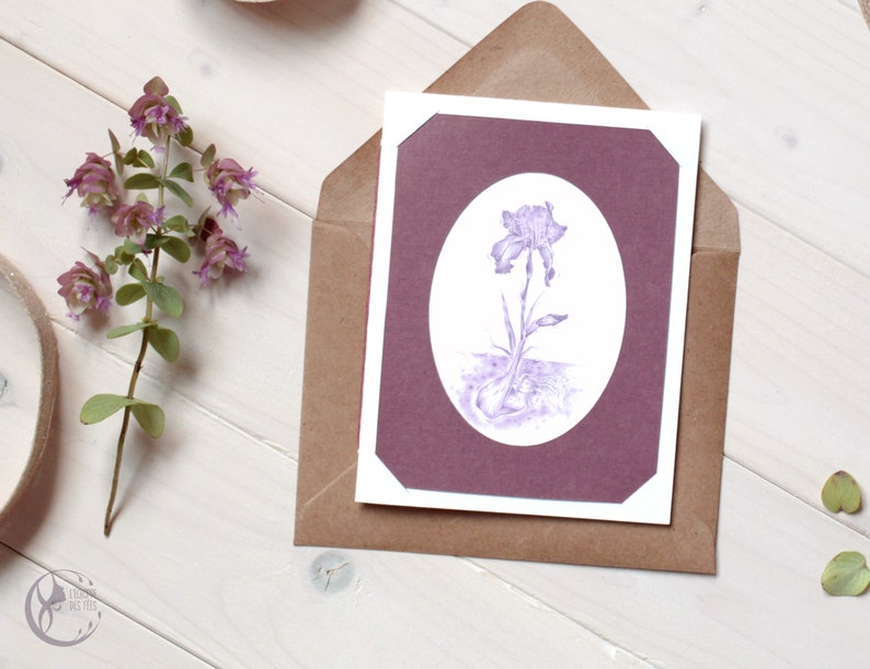 Handmade Nature Illustration Greeting Card image 0