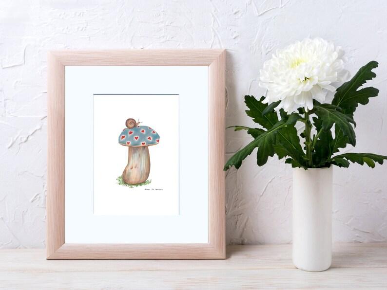 Magic Mushroom Illustrated Art Print 18 available models to image 0