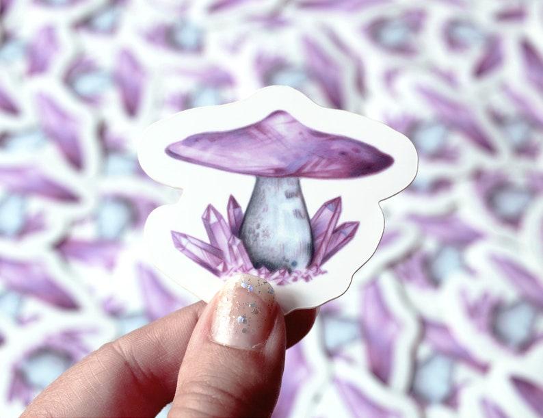 Amethyst Stone Mushroom Sticker image 0