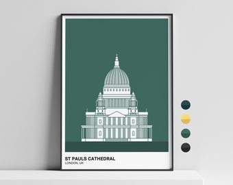 ST Pauls Cathedral, London Print | London Wall Art | London Architecture | City Print
