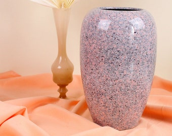 MINIMAL SPECKLED VASE old pink grey black and white