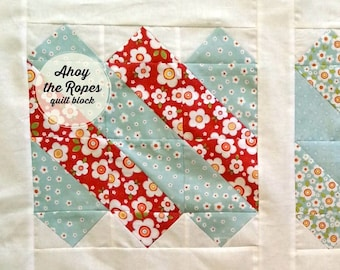Ahoy the Ropes PDF downloadable quilt block pattern