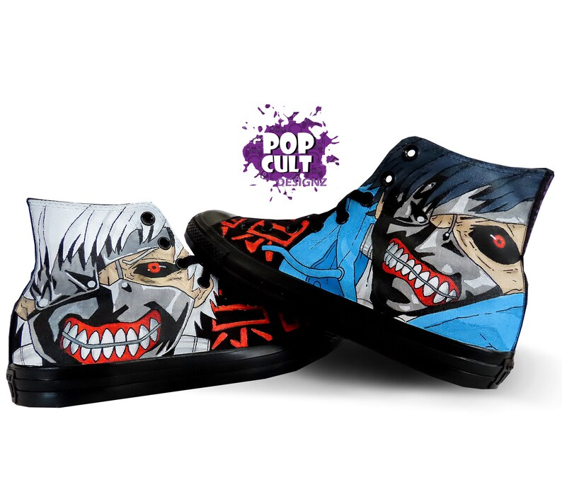 9e239af6a83f Tokyo Ghoul Hand Painted Canvas Converse Shoes