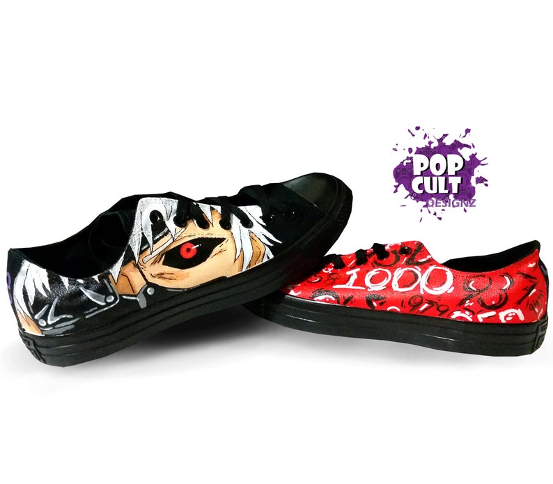 3815af98148f Tokyo Ghoul Low-top Hand Painted Canvas Converse Shoes