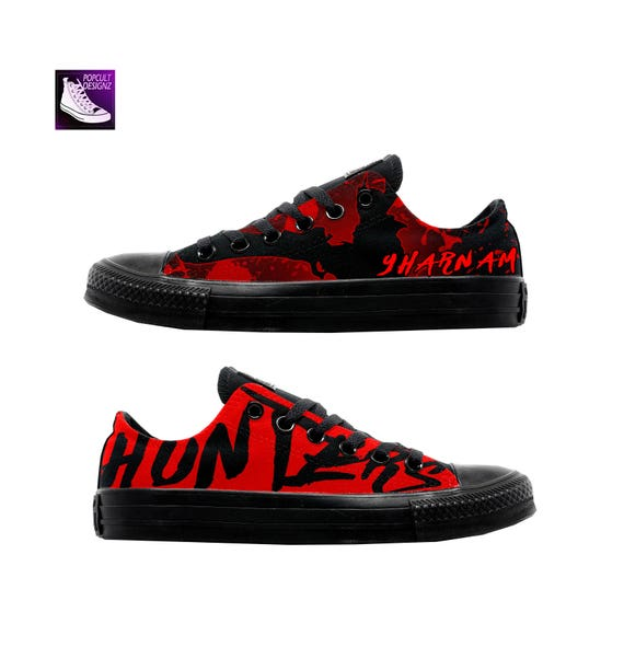 7c06d4942fb2 Bloodborne Low-top Video Game Inspired Hand Painted Low Cut