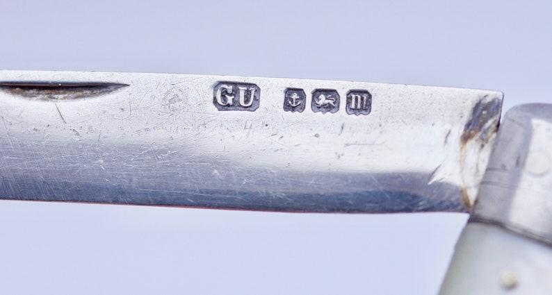 Stunning lge Silver /& MOP Fruit knife Birm 1911 George Unite