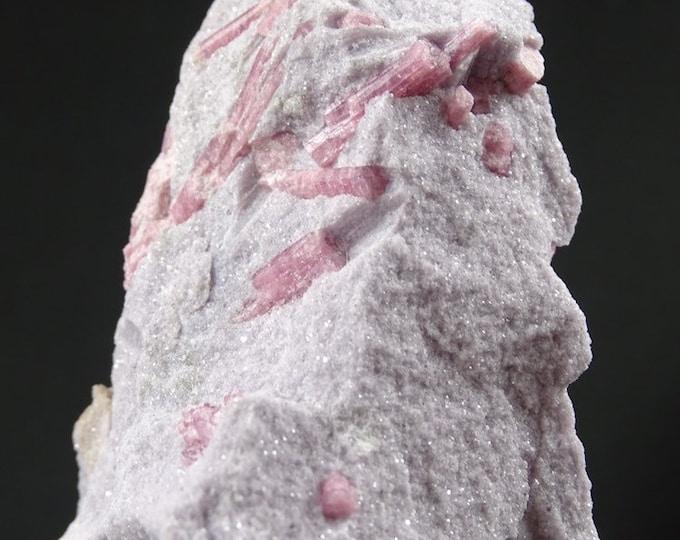 Pink Rubellite Tourmaline in Lilac Lepidolite Matrix
