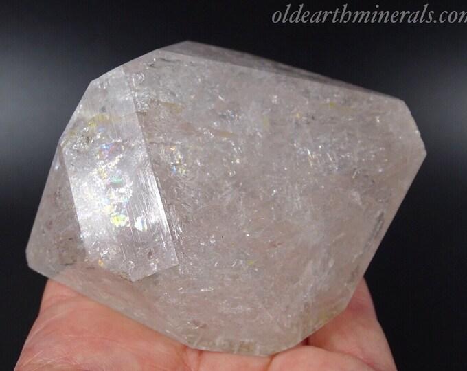 Doubly Terminated Quartz Crystal with Rainbows