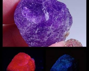 Fluorescent, Phosphorescent & Slightly Tenebrescent  Hackmanite Crystal