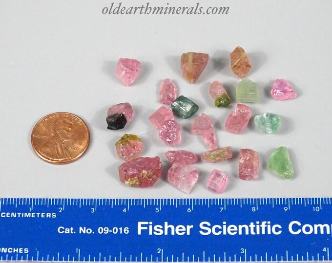 12 Grams Mixed Tourmaline Pieces
