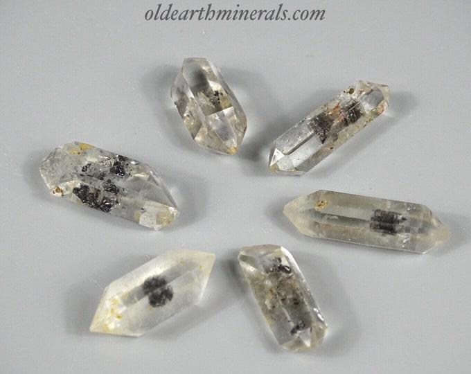 Lot of 6 Tibetan Doubly Terminated Black Quartz Crystals. Avg 2.5 cm each (1 inch)