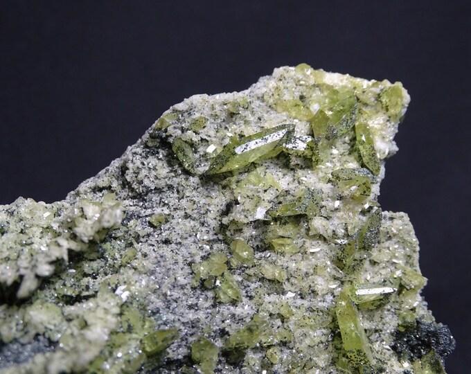 Chlorite Coated Titanite Sphene Crystals on Matrix