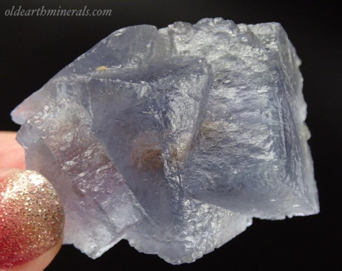 Beautiful Light Blue Fluorite Cube Cluster with Inclusions