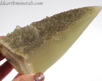 Dog Tooth, Stellar Beam Calcite Crystal with Small Dogtooth Crystals and Fluorite