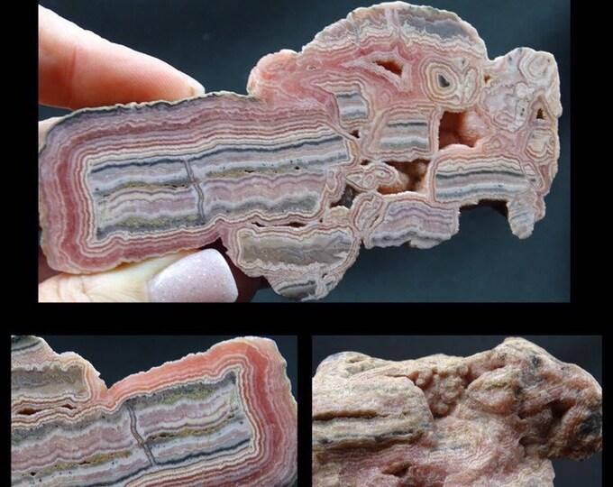 Beautiful Argentinian Rhodochrosite Display Piece
