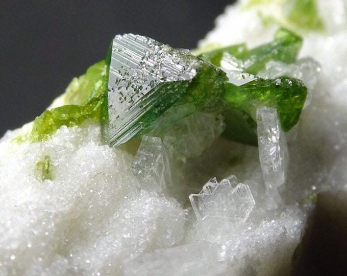 Titanite Sphene Crystals with Clevelandite on Matrix