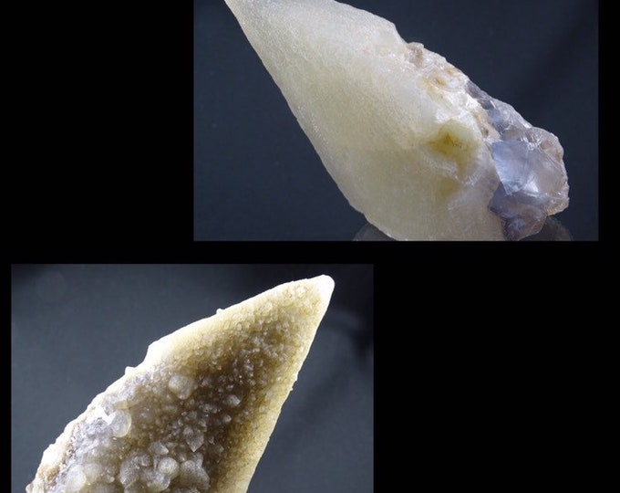 Dog Tooth, Stellar Beam Calcite Crystal with Micro Dogtooth Crystals and Fluorite