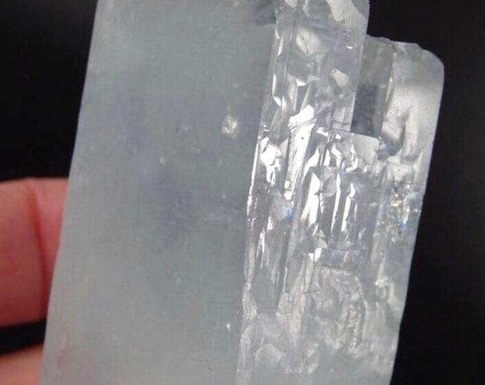 Inter Grown Aquamarine Crystals and Mica