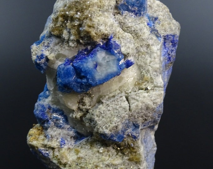 Afghanite and Pyrite on Matrix