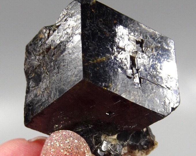 Partial Dark Brown / Black Garnet Crystal