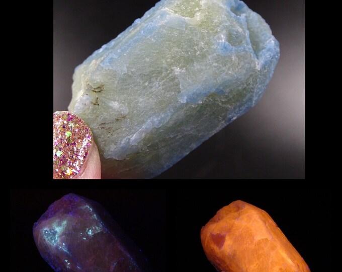 Fluorescent Afghanite Crystal