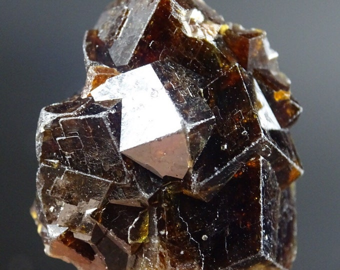 Small Reddish Brown Intergrown Garnet Cluster