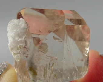 Champagne Color Topaz Crystal with Clevelandite